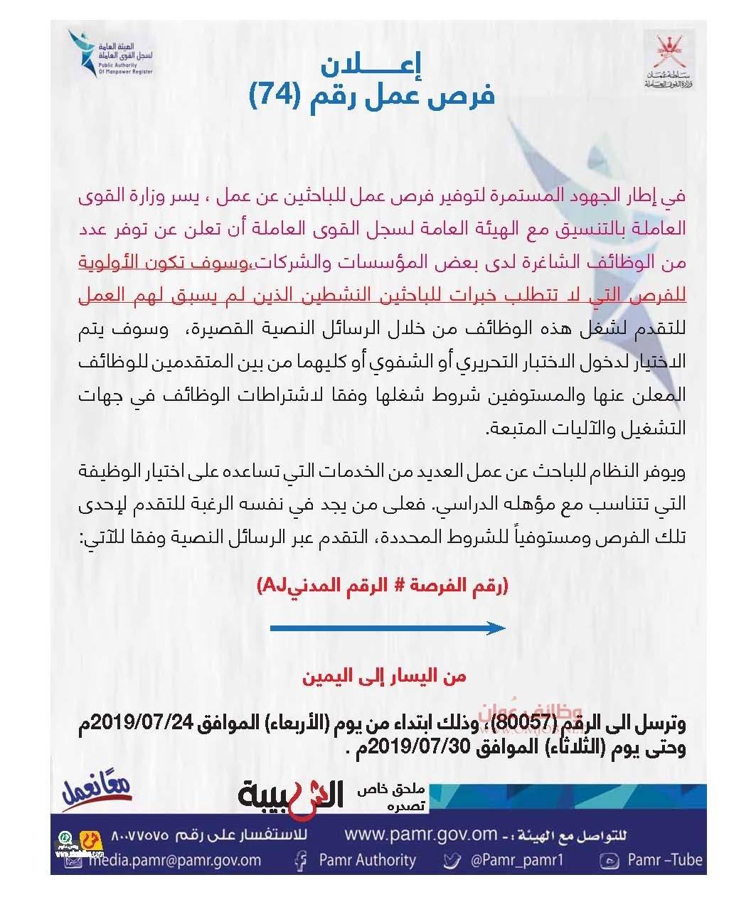 وظائف سلطنة عُمان – Page 16 – Oman Jobs Blog